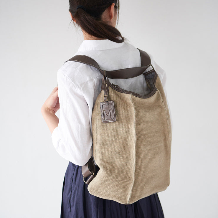 Washed Jute 3 Way Backpack - MOTHERHOUSE