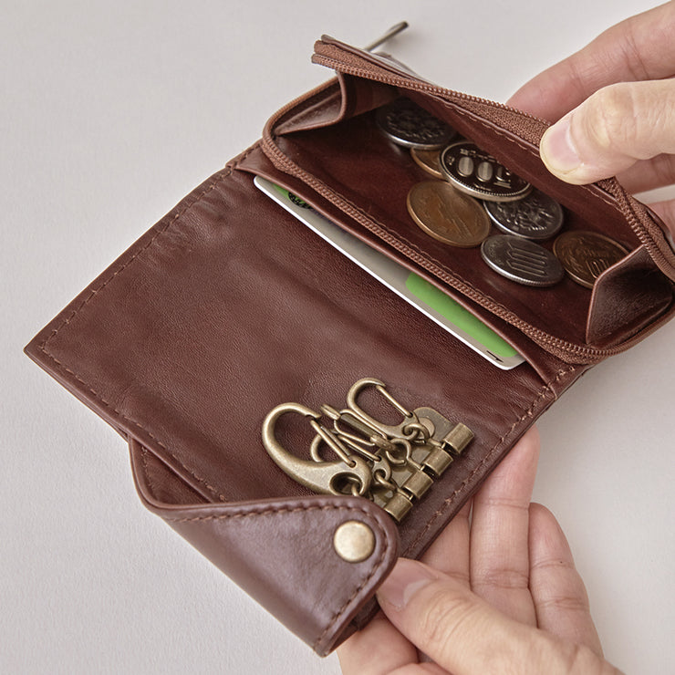 Antique Key & Coin Case