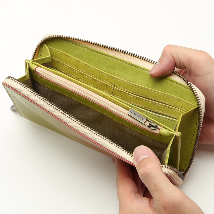 Irodori Round Long Wallet - MOTHERHOUSE