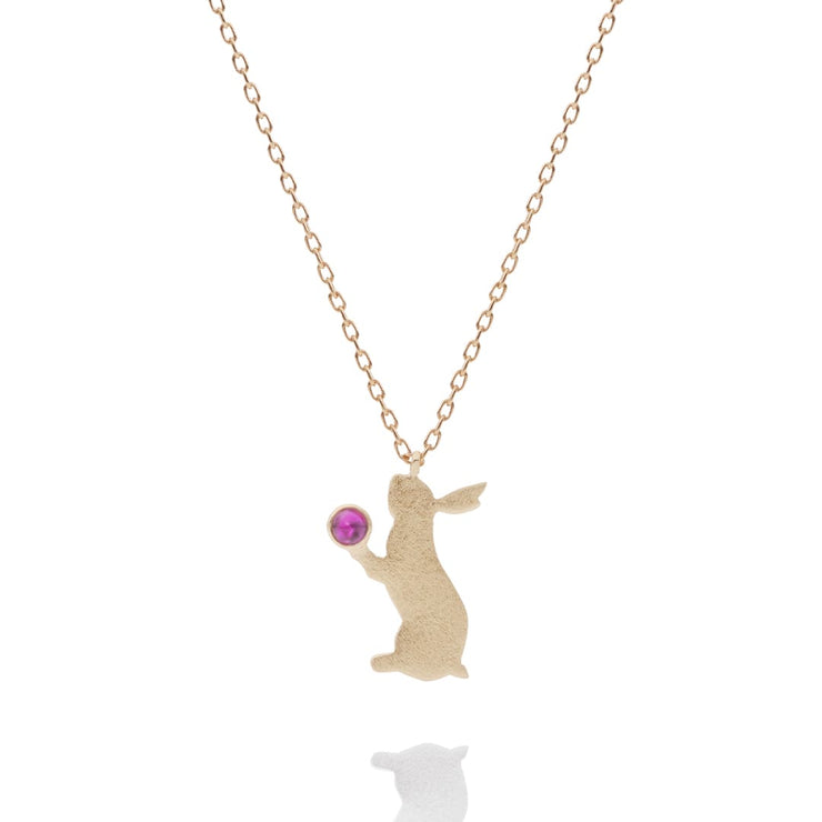 With heart(rabbit) Necklace