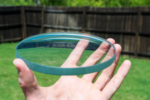 Spinning Base - 150mm Glass Concave Lens - Bruce Charles Designs