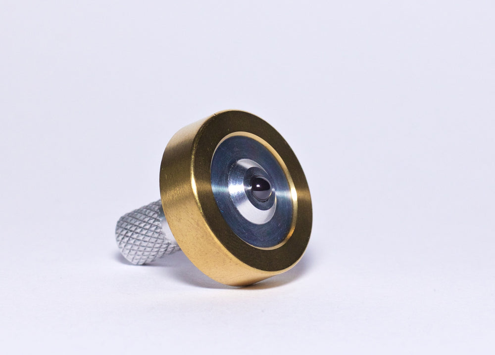 Schulte Fused Aluminum & Brass Spinning Top - Bruce Charles Designs