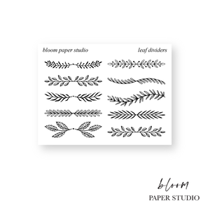Foiled Leaf Dividers Stickers