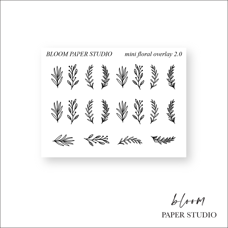 Foiled Mini Overlay Floral Stickers 2.0