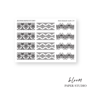 Foiled Thick Damask Washi Planner Stickers 2.0