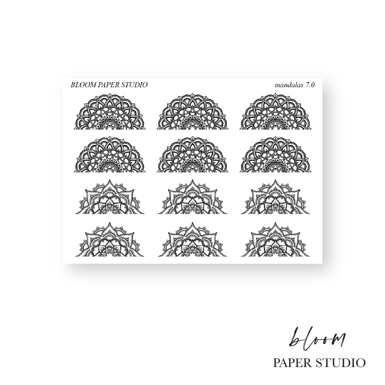 Foiled Mandala Planner Stickers 7.0