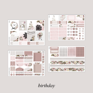 Birthday Foiled Planner Sticker Kit