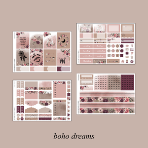 Boho Dreams Foiled Planner Sticker Kit