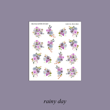 Load image into Gallery viewer, Rainy Day Foiled Planner Sticker Kit