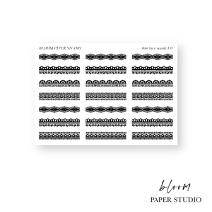 Foiled Thin Lace Washi Planner Stickers 1.0