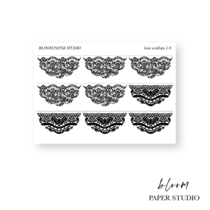 Foiled Lace Scallop Stickers 1.0