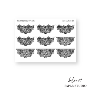 Foiled Lace Scallop Stickers 2.0