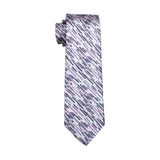 Light Gray with Gray & Purple Stripes Necktie