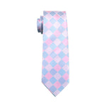 Pink and Blue Checkered Necktie