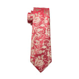 Red with Tan Leaf Necktie