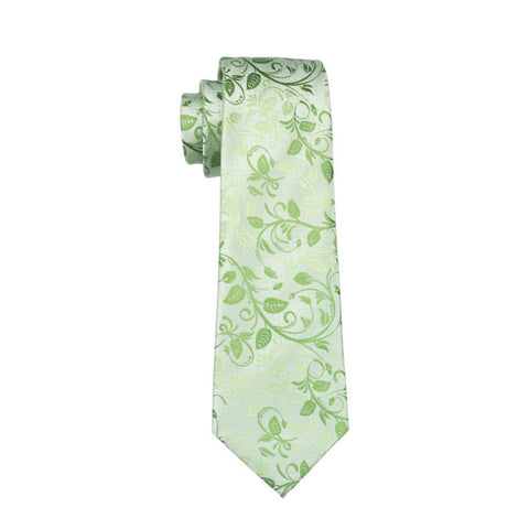 Light Green with Green Leaf Necktie