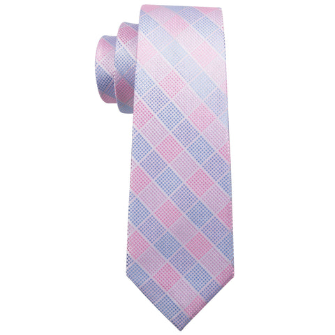 Blue and Pink Stripes Necktie