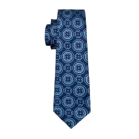 Blue & Light Blue Design Necktie