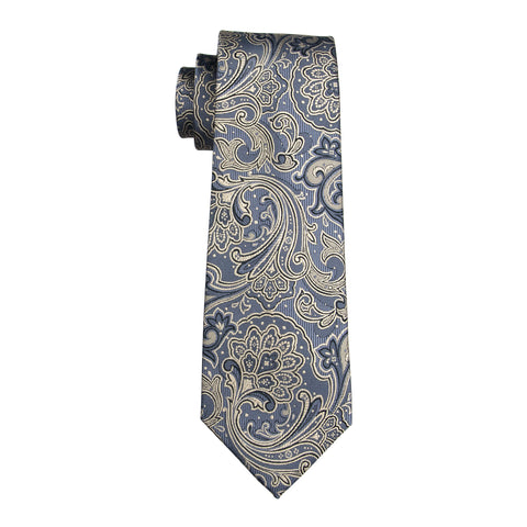 Gray & Tan Pattern Necktie
