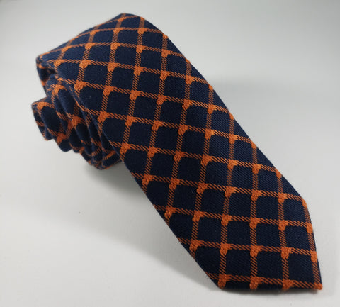 Blue & Orange Skinny Necktie