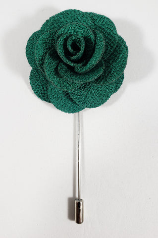 Green Flower Lapel Pin