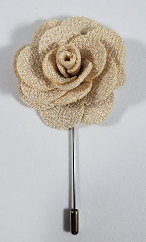 Beige Flower Lapel Pin