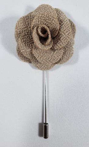Tan Flower Lapel Pin