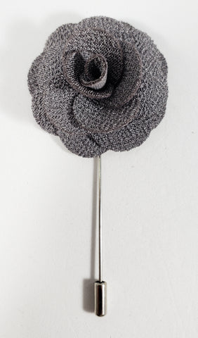 Gray Flower Lapel Pin