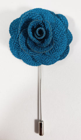 Medium Blue Flower Lapel Pin