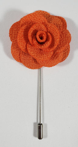 Dark Orange Flower Lapel Pin
