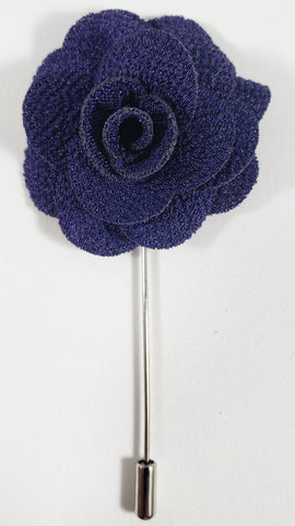 Dark Purple Flower Lapel Pin