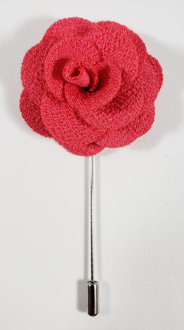 Hot Pink Flower Lapel Pin