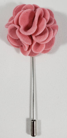 Pink Velvet Flower Lapel Pin