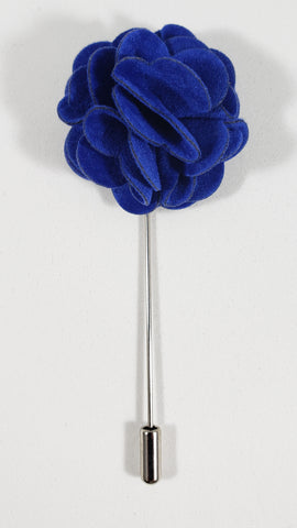Blue Velvet Flower Lapel Pin