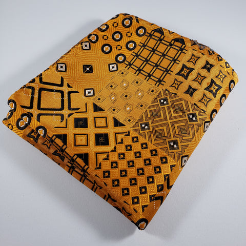 Orange & Black Quilt Design Pocket Square