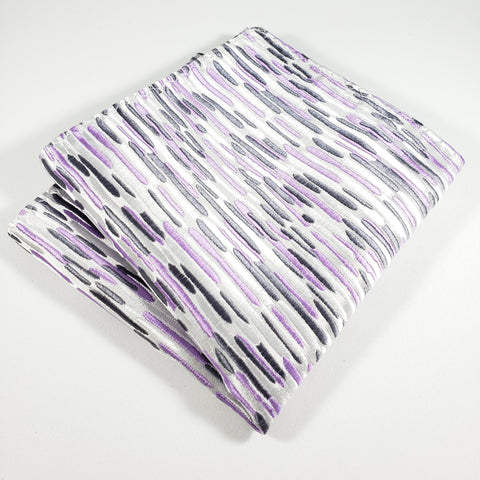 Light Gray with Purple & Gray Stripes Pocket Square