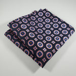 Navy Pink Pocket Square