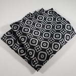 Black & Gray Pattern Pocket Square