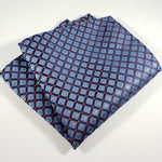 Blue Checkered with Red Polka Dot Pocket Square