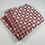 Salmon & Pink Checkered Pocket Square