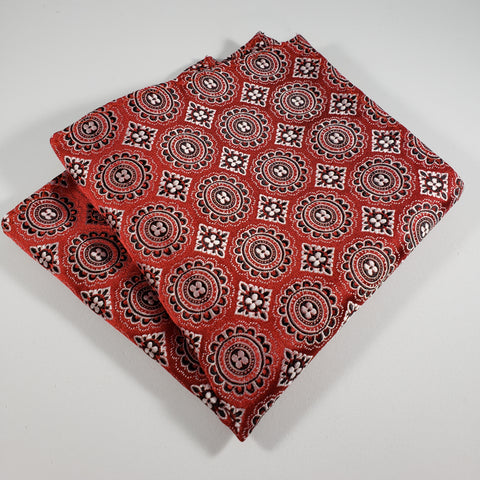 Red & Black Design Pocket Square