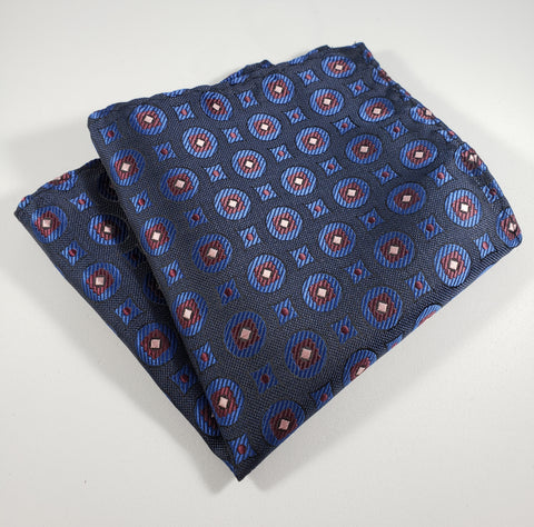 Navy & Maroon Pocket Square
