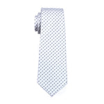 White with Black Polka Dot Necktie