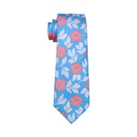 Baby Blue & Peach Flower Necktie