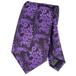 Purple Flower Necktie
