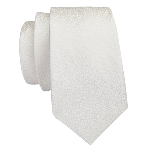 White Pattern Necktie