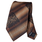 Brown Pattern Necktie