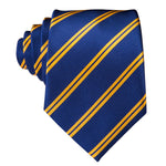 Navy & Gold Striped Necktie