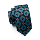 Blue Pattern Necktie
