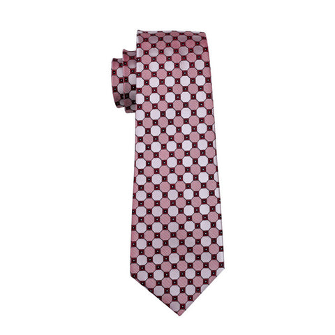 Salmon & Pink Checkered Necktie